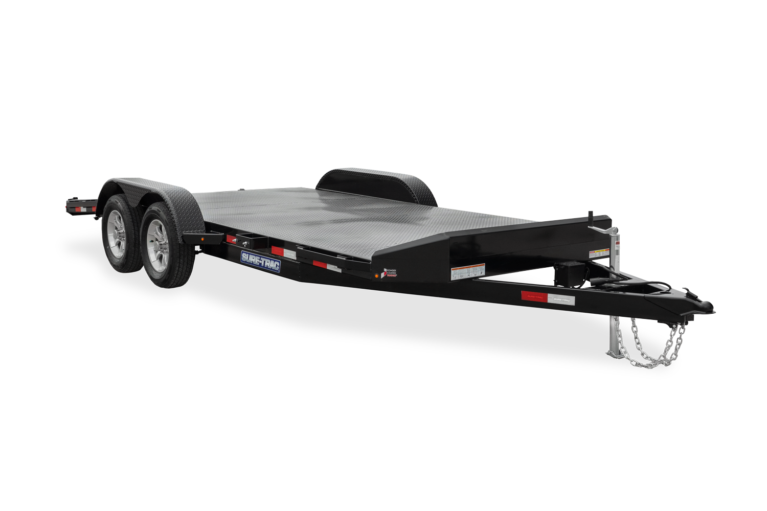 2021 Sure-Trac 7 x 18 Steel Deck Car Hauler Trailer 2023000