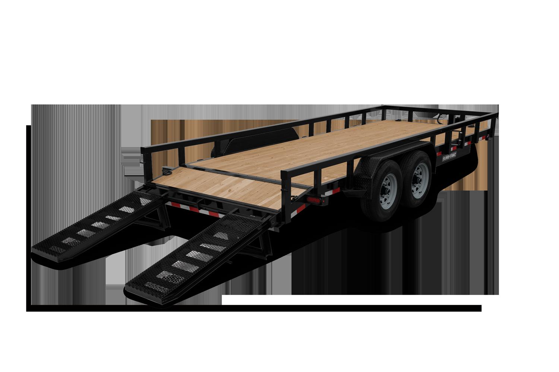 2021 Sure-Trac 7 x 18 (16+2) Heavy Duty Equipment Trailer 2022908