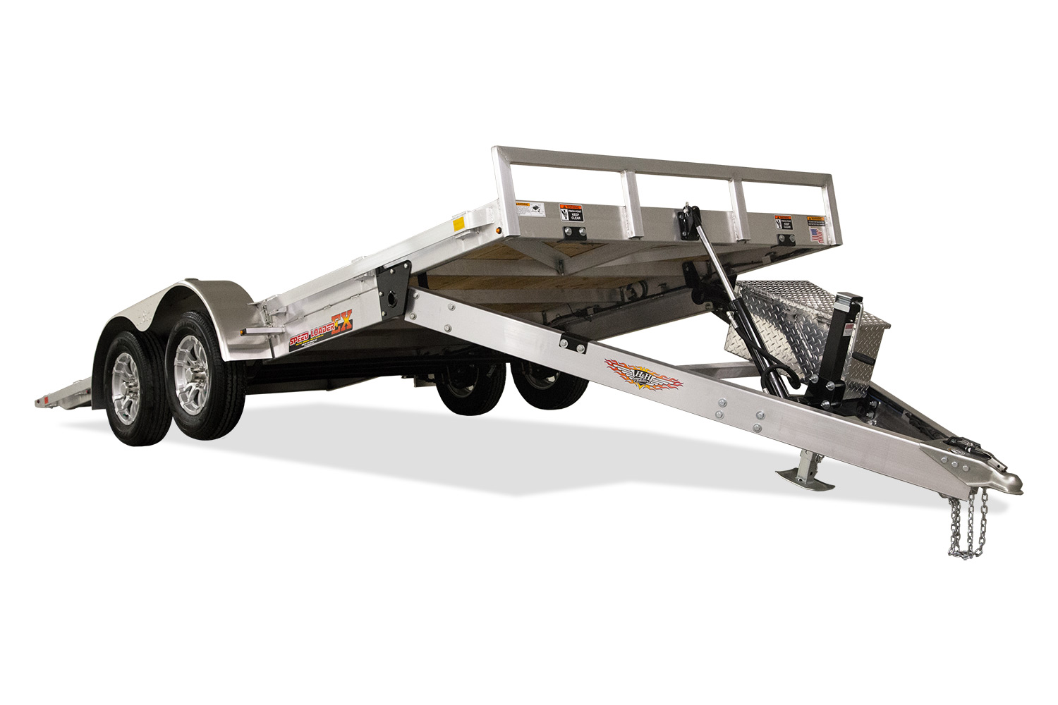 2021 H and H Trailer 82x18 Aluminum Electric Tilt Speed Loade