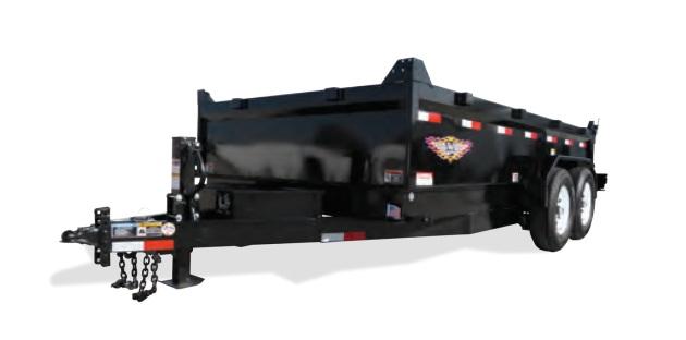 2020 H and H Trailer 83X16 DBW DUMP BOX 14K