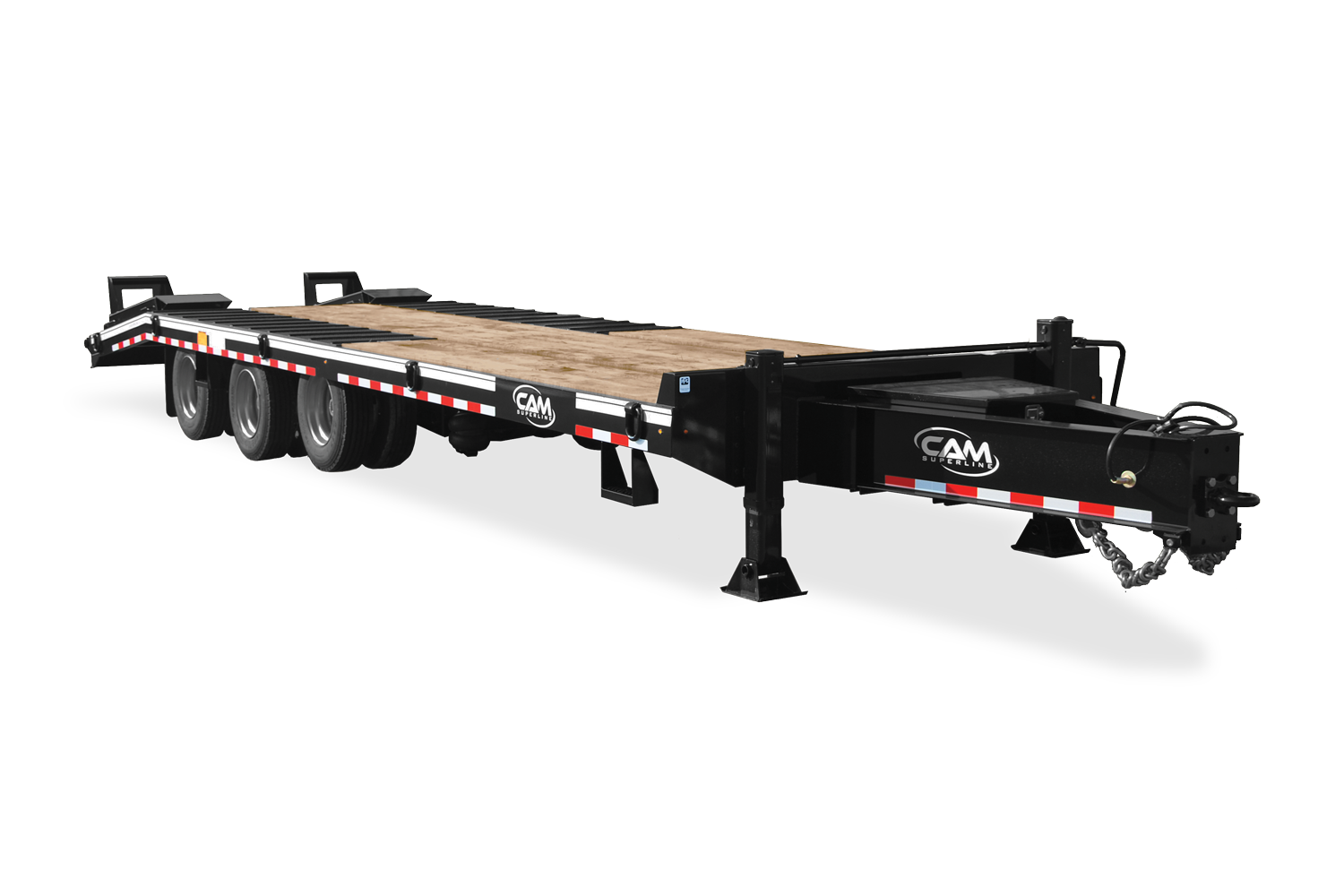 "2021 Cam Superline 25 Ton Deckover Heavy Duty Trailer 102"" X 24' FLAT + 7' 6"" DOUBLE BREAK B/T."