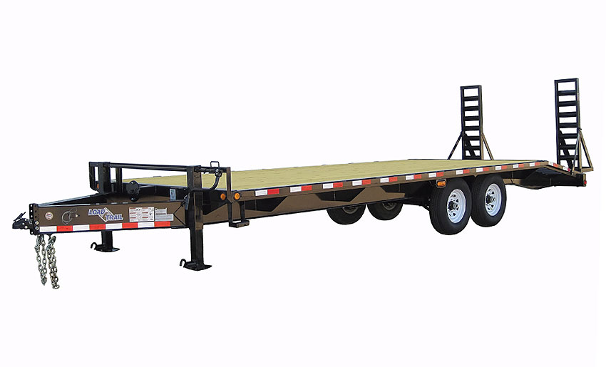 "2015 Load Trail 102"" x 24' Heavy Duty Pintle Hook   2-7000 lb Axles"