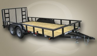 """Quality Trailers 82"""" x 18' (16' + 2' Dove Tail) Professional Grade Utility Trailer 7K"""