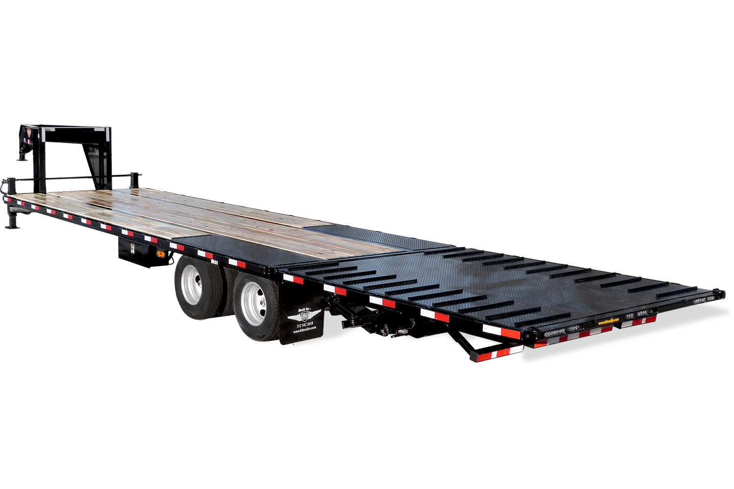 2020 H and H Trailer 25+5 19LB 20K GNLP DECKOVER SUPER DLX