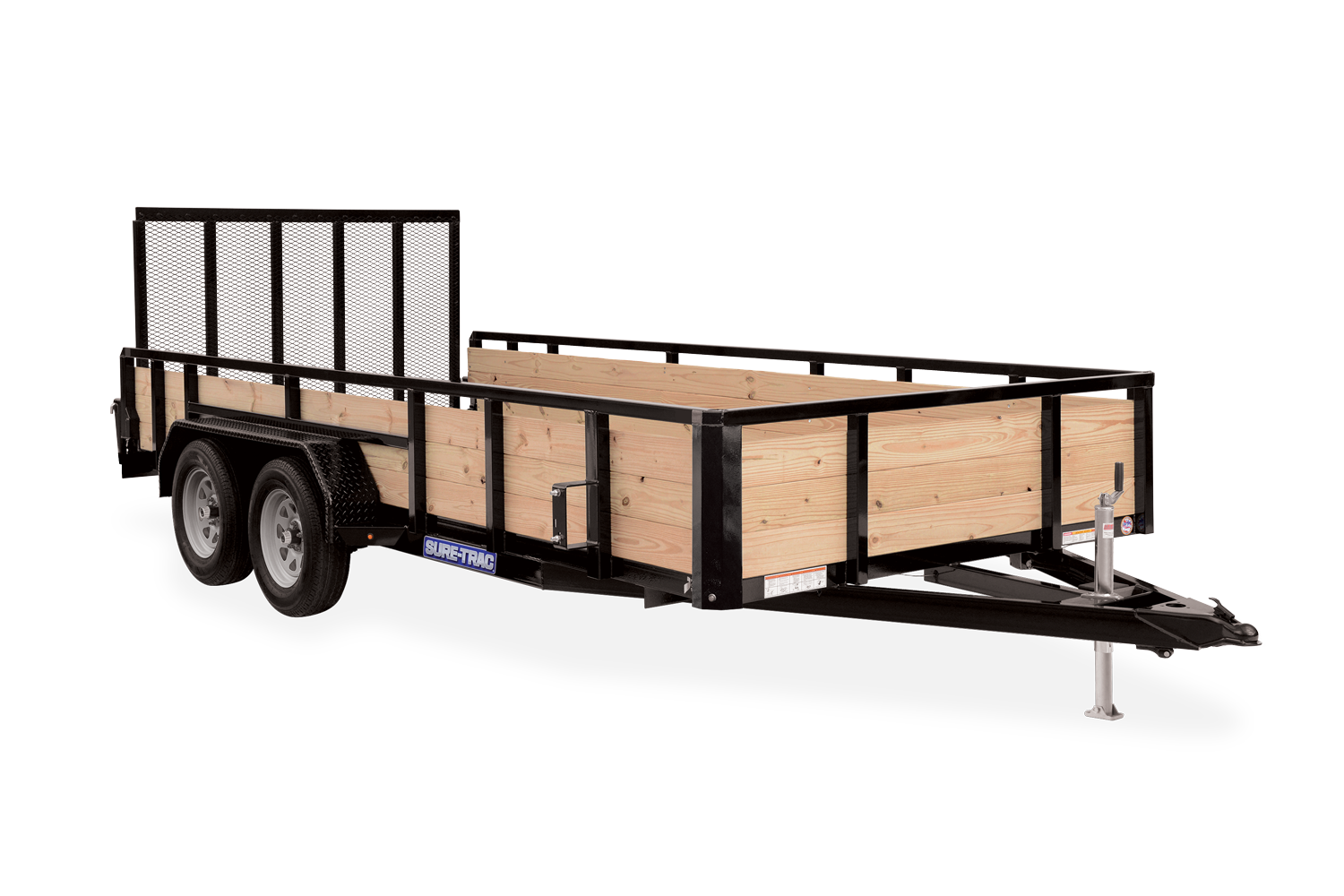 2021 Sure-Trac 7 x 14 Tube Top Three Board Trailer  7K