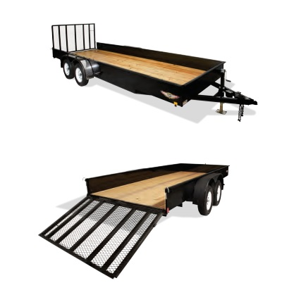 2020 H and H Trailer 8.5X20 STEEL SOLID SIDE TANDEM 7K