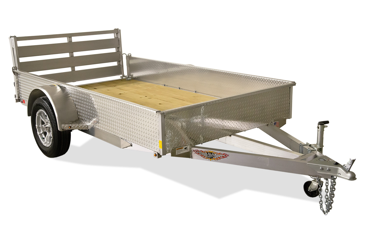 2020 H and H Trailer 8(76)X12 SOLIDSIDE ALUM 3K
