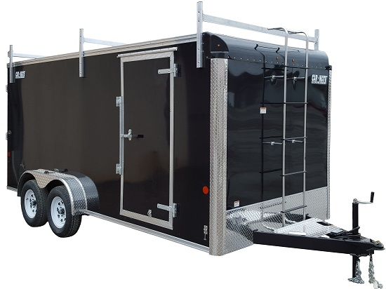 Car Mate Trailers CM712CC-HD/CTR - 7'W Tandem Axle Custom Cargo Contractor Trailer