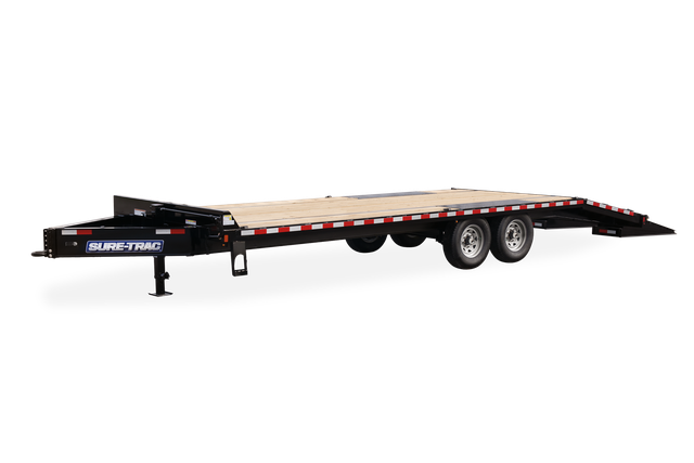 2021 Sure-Trac 8.5 x 20+5 Heavy Duty Low Profile Equipment Trailer 2024012