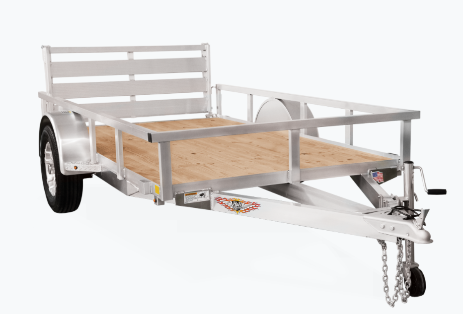 2021 H and H Trailer 82x14 Aluminum Rail Side Utility Trailer