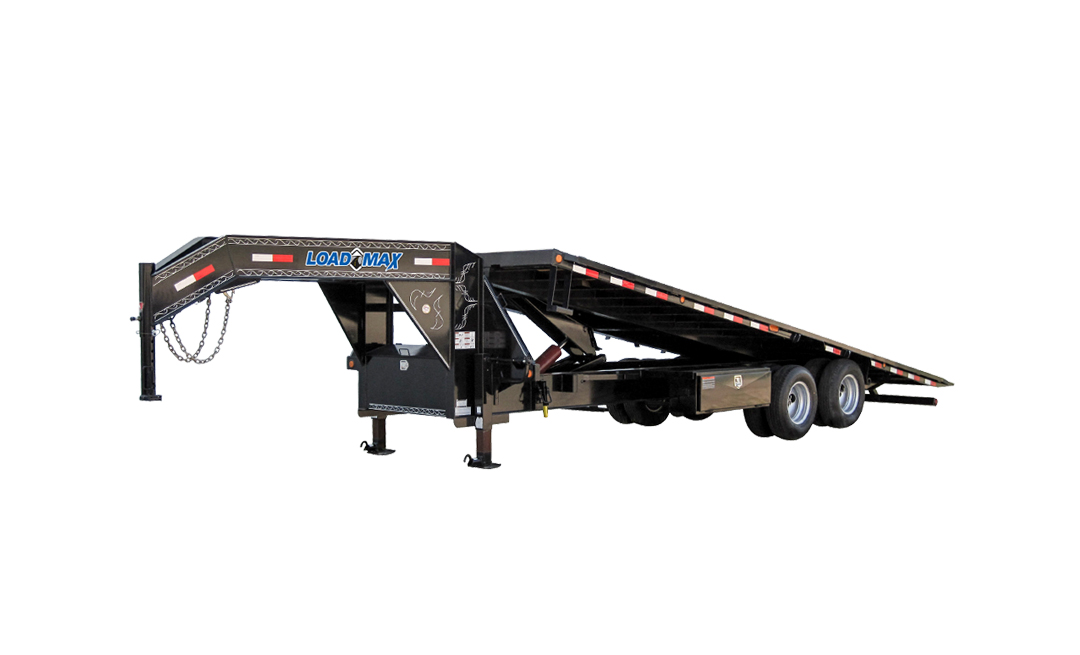 "102"" x 40' Tandem Heavy Duty Gooseneck Equipment Tilt Deck w/Under Frame Bridge"