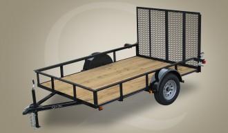 "Quality Trailers 77"" x 12' Single Axle Economy Series Utility Trailer"