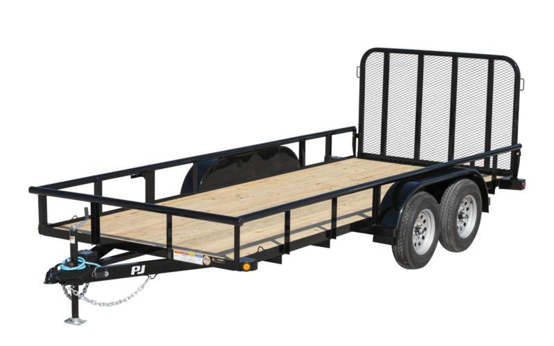 "PJ Trailers 77"" x 16' 77"" Angle Tandem Axle Utility (EK)"