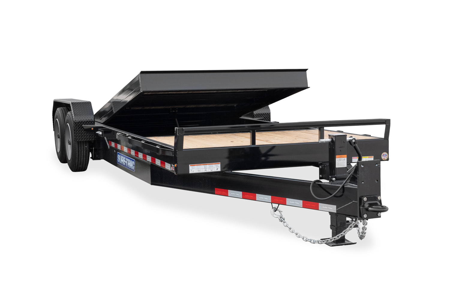 2021 Sure-Trac 7 x 18+4 Tilt Bed Equipment Trailer  16K