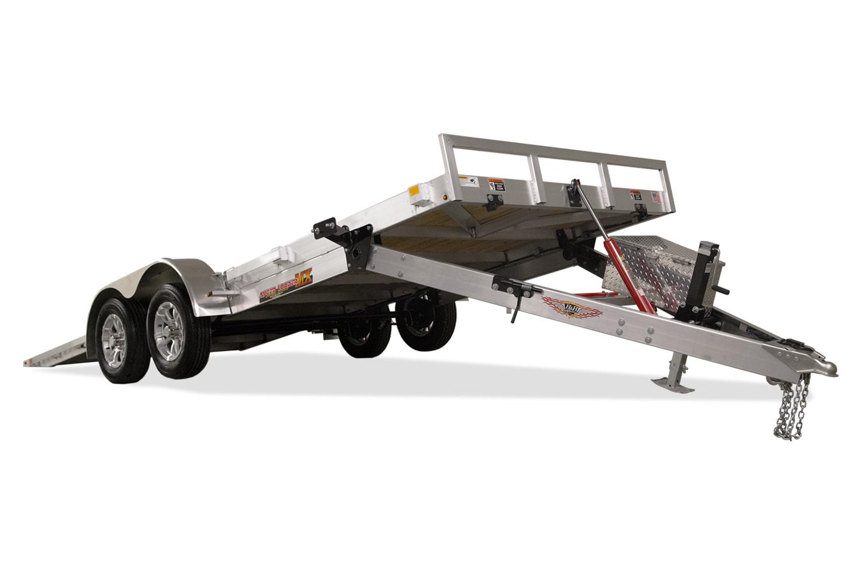 "H&H MXA ALUMINUM SPEEDLOADER TILT CAR HAULER TANDEM AXLE H8222EXA-100 82""X22'10K"