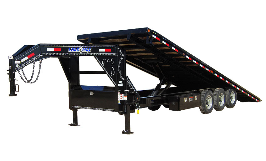 "2015 Load Trail 102"" X 28' Gooseneck Equipment Tilt Deck   3-7,000 lb Axles w/Cylinder"