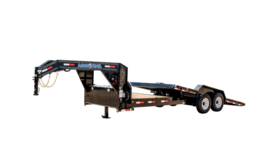 "2019 Load Trail 83"" X 24' Tilt-n-go Gooseneck Tandem Axle Equipment Trailer"