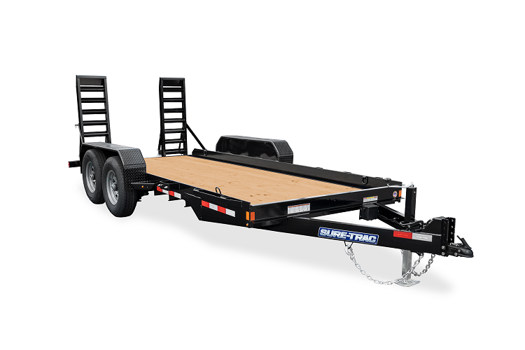 2021 Sure-Trac 7 x 18 Skid Steer Equipment Trailer  14K