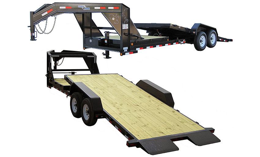 "2016 Load Trail 81.5"" x 20' Gooseneck Tilt Deck 2-7000 lb Tors. 2 Brakes w/Gravity"