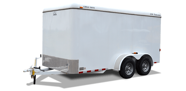 "CM Trailers Cargo Mate 14' x 7'10"" x 6'6"" w/ 2-5200# axles, 15"" tires & 6-hole wheels"