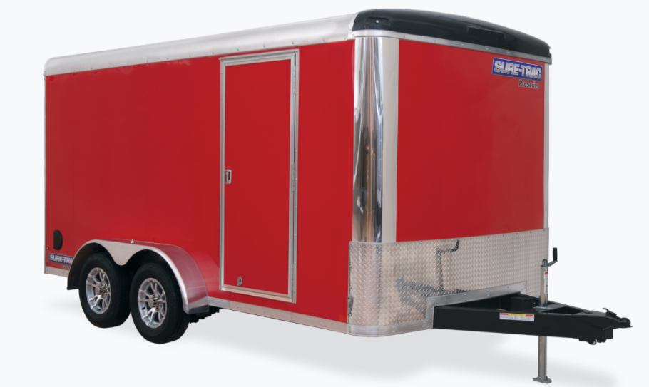 2021 Sure-Trac 7 x 16 Pro Series Enclosed Round Top Car
