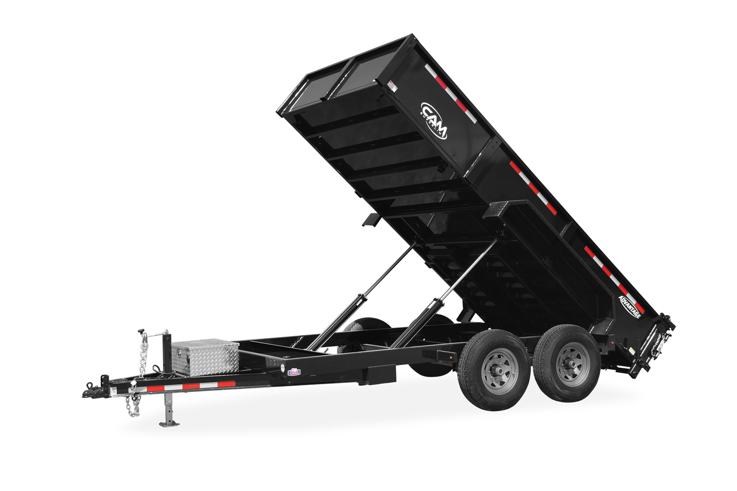 "2021 Cam Superline 6 Ton Advantage HD 81"" wide x 12' Low Profile Dump Trailer"