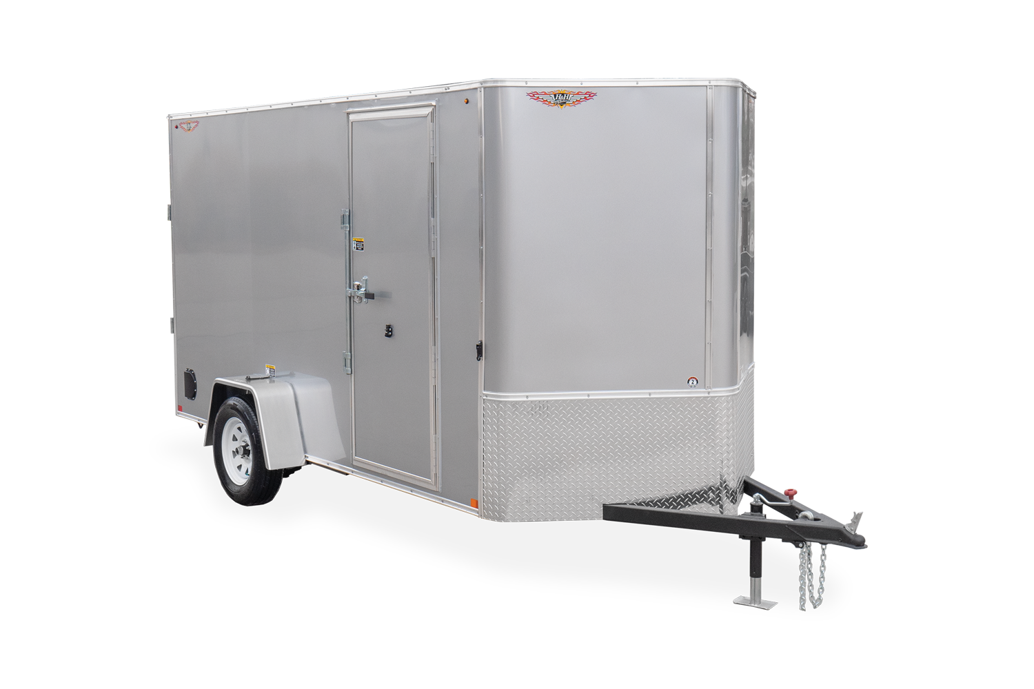 2021 H and H Trailer 5x8 HH Series Flat Top V-Nose Enclosed C