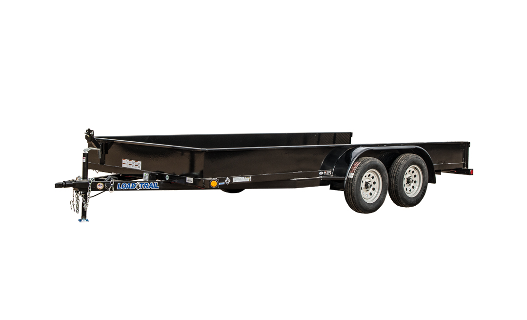"""Load Trail US07 - Tandem Axle Utility 7,000 Lb w/2"""" x 3"""" Angle Frame & Solid Sides"""