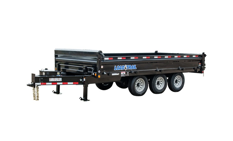 "96"" X 16' TRIPLE AXLE PINTLE HOOK DECK OVER DUMP"