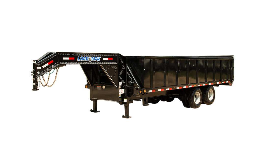 "102"" X 20' TANDEM HEAVY DUTY GOOSENECK DUMP DECK OVER"