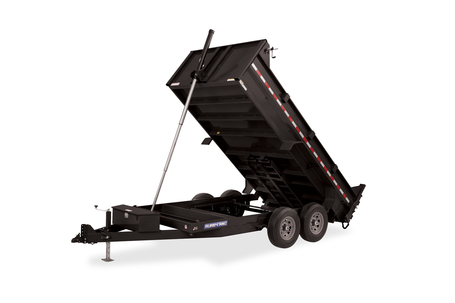 2021 Sure-Trac 7X12 LProfile Telescopic Dump 14K