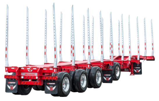 Manac Trailer Log Trailers (Drop Chassis), New Design
