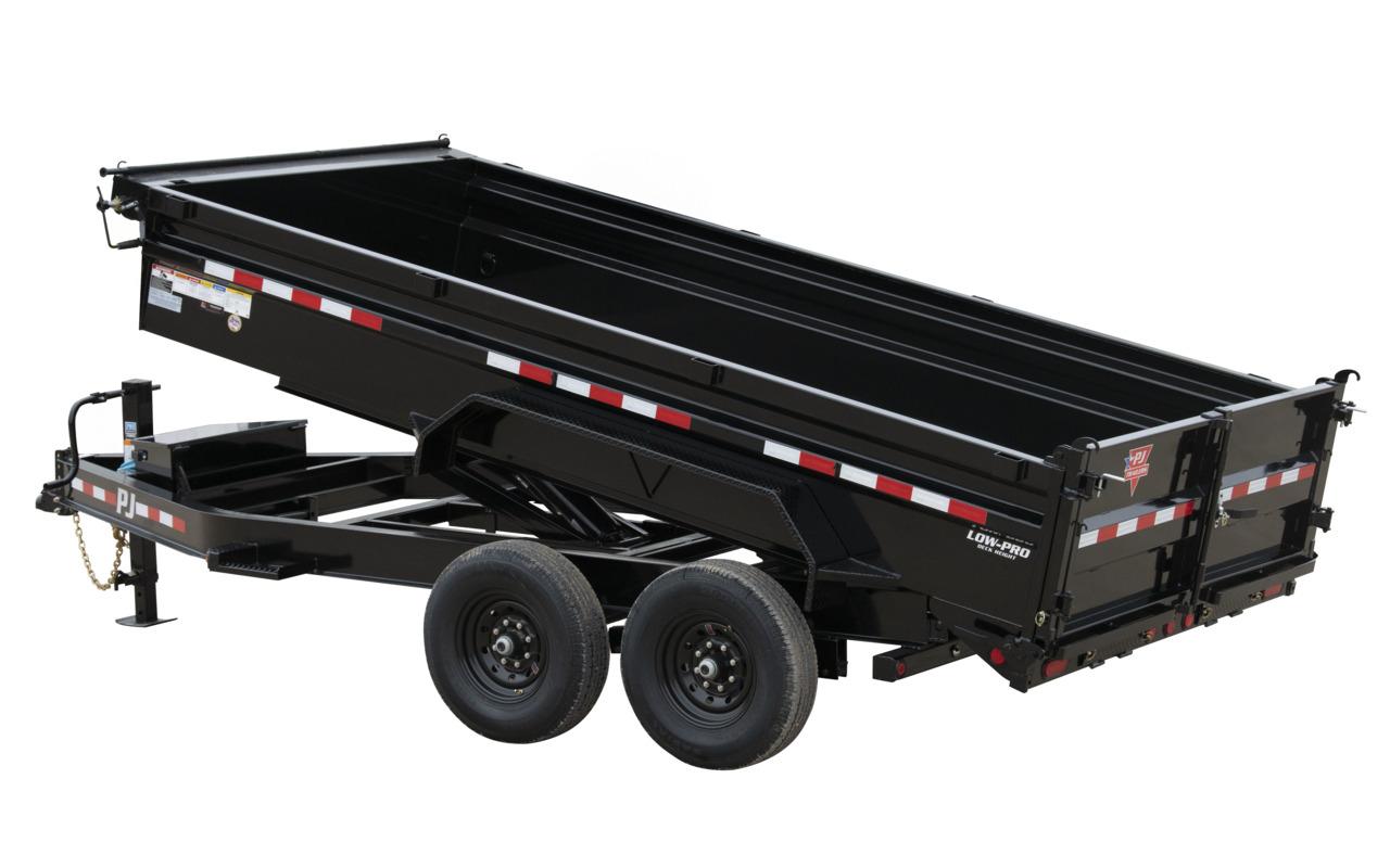 "PJ Trailers 83"" x 16'  14K Low-Profile Dump PRO (DL)"
