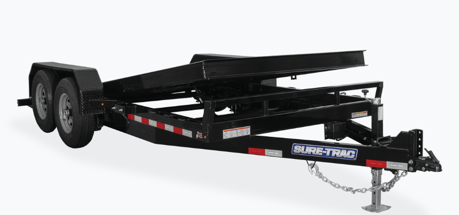 2021 Sure-Trac 7 x 18 Tilt Bed Equipment Trailer  14K 2023040