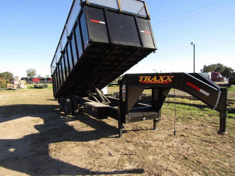 Traxx Trailers 20' Gooseneck Dump Trailer