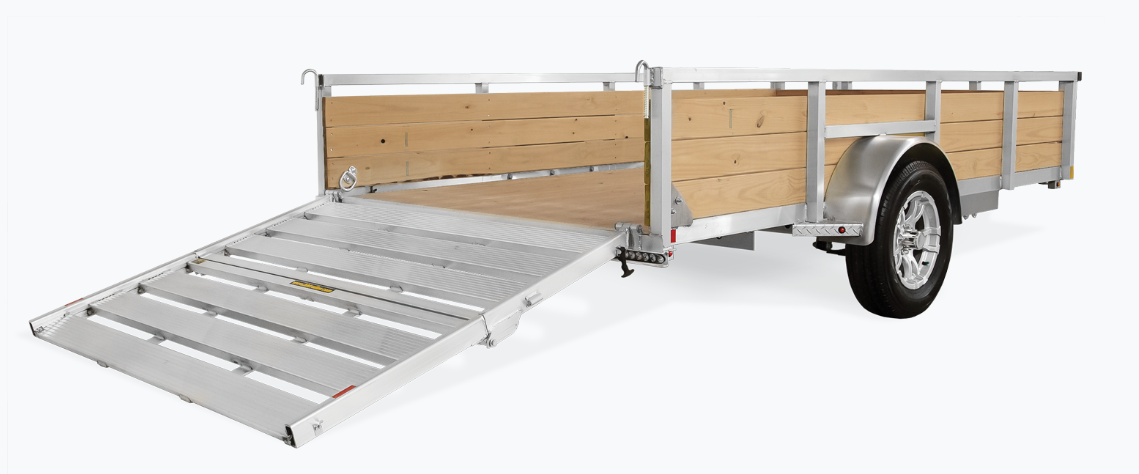 2021 H and H Trailer 66x10 Aluminum Wood Side Utility Trailer
