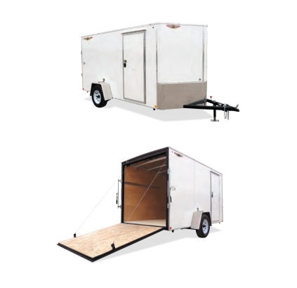 2019 H and H Trailer 6X10 SINGLE FLAT TOP HH VNOSE 3.5K CARGO