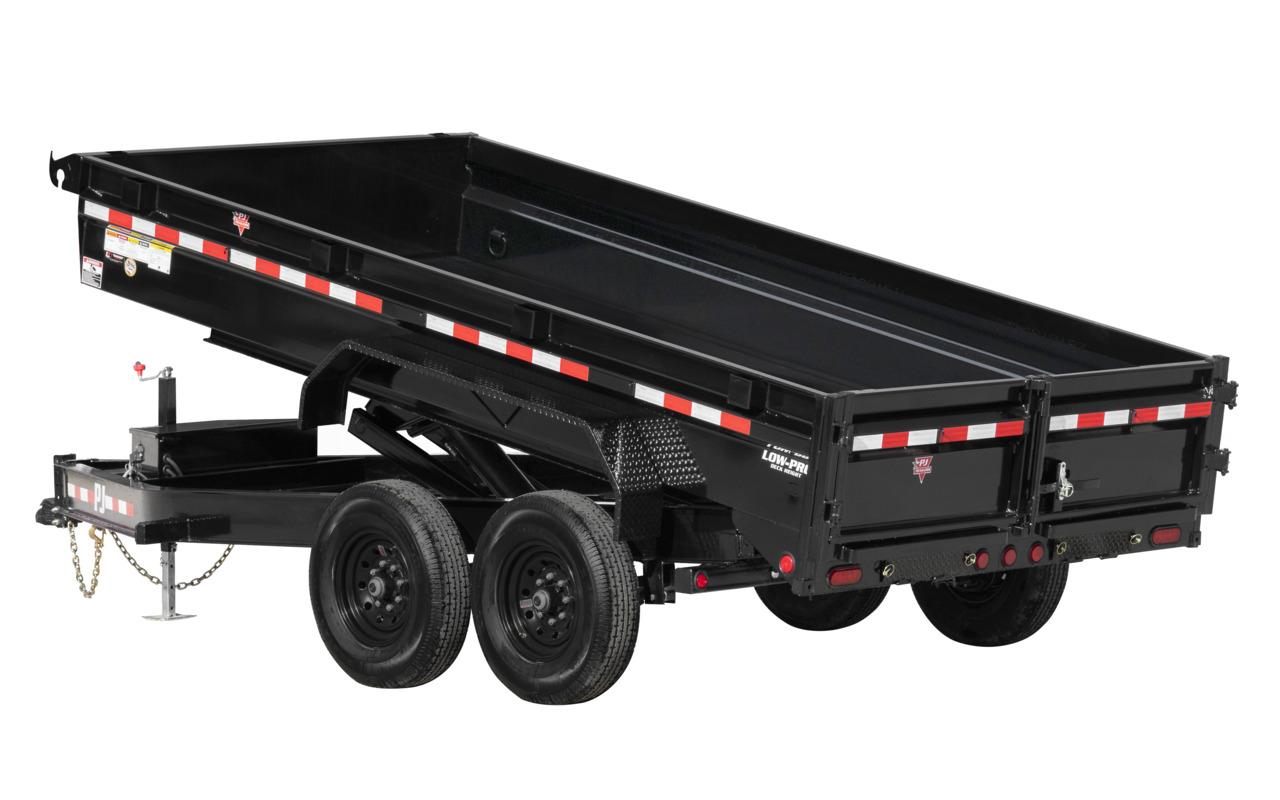 "PJ Trailers 83"" x 14'  14K Low-Profile Dump (DG)"