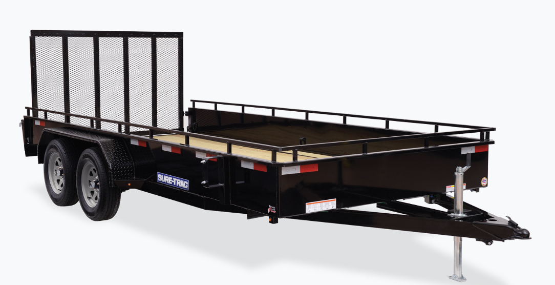 2021 Sure-Trac 7 x 16 Steel High Side Trailer  7K Tandem Axle