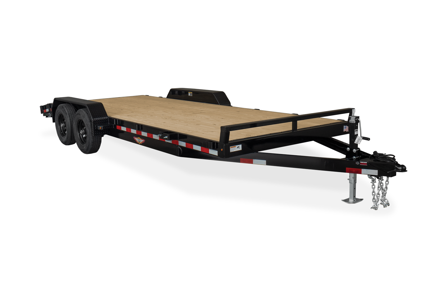 2021 H and H Trailer 82x18+2 Heavy Duty Car Hauler Trailer  1