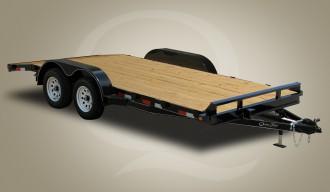 "Quality Trailers 82"" x 18' (16' + 2' Dove Tail) General Duty Wood Deck Car Hauler 8K"