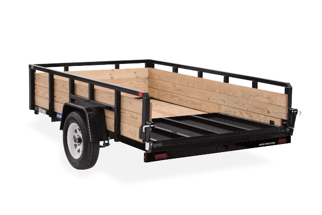 Sure-Trac 7 x 14 Tube Top Three Board Trailer