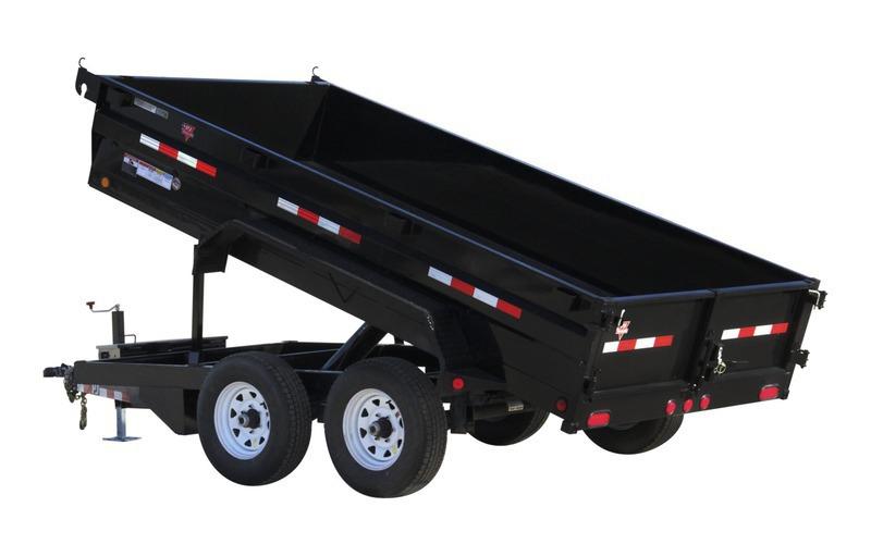 """PJ Trailers 72"""" x 10'  72"""" Tandem Axle Dump (D3)"""