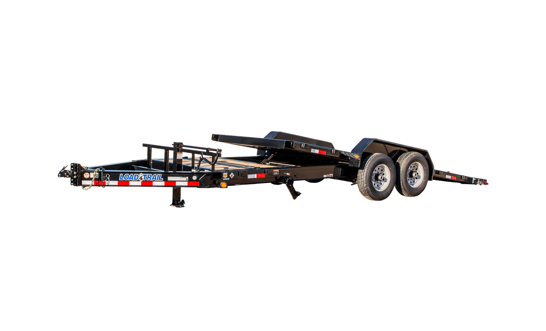 "2018 Load Trail 102"" X 24' Tandem Axle Tilt Deck Equipment Trailer"