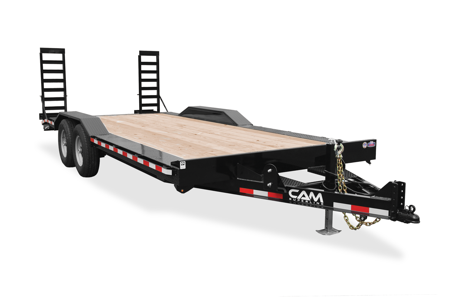 "2021 Cam Superline 7 Ton Equipment Hauler Beavertail Trailer 82"" Wide x 18' Long."