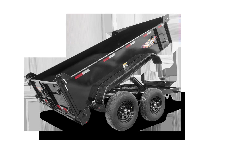 2022 H and H Trailer 76x12 Utility Dump Trailer  10K Single R