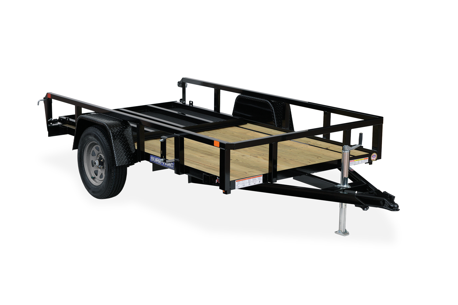 2021 Sure-Trac 5x8 Tube Top Utility Trailer 3K Idler