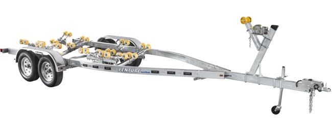 Venture Trailers Galvanized Tandem Axle Roller VRT-6450