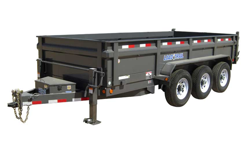 "2016 Load Trail 83"" x 16' Triple Axle Dump (with scissor lift)"