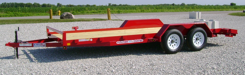 "Liberty LC10KA - 10K Angle Car Hauler 82"" Wide Deck"